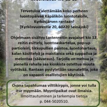 Käpälikön luontotapahtuma 18.8.2019